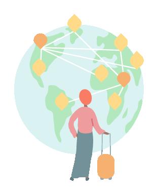 Illustration of global network
