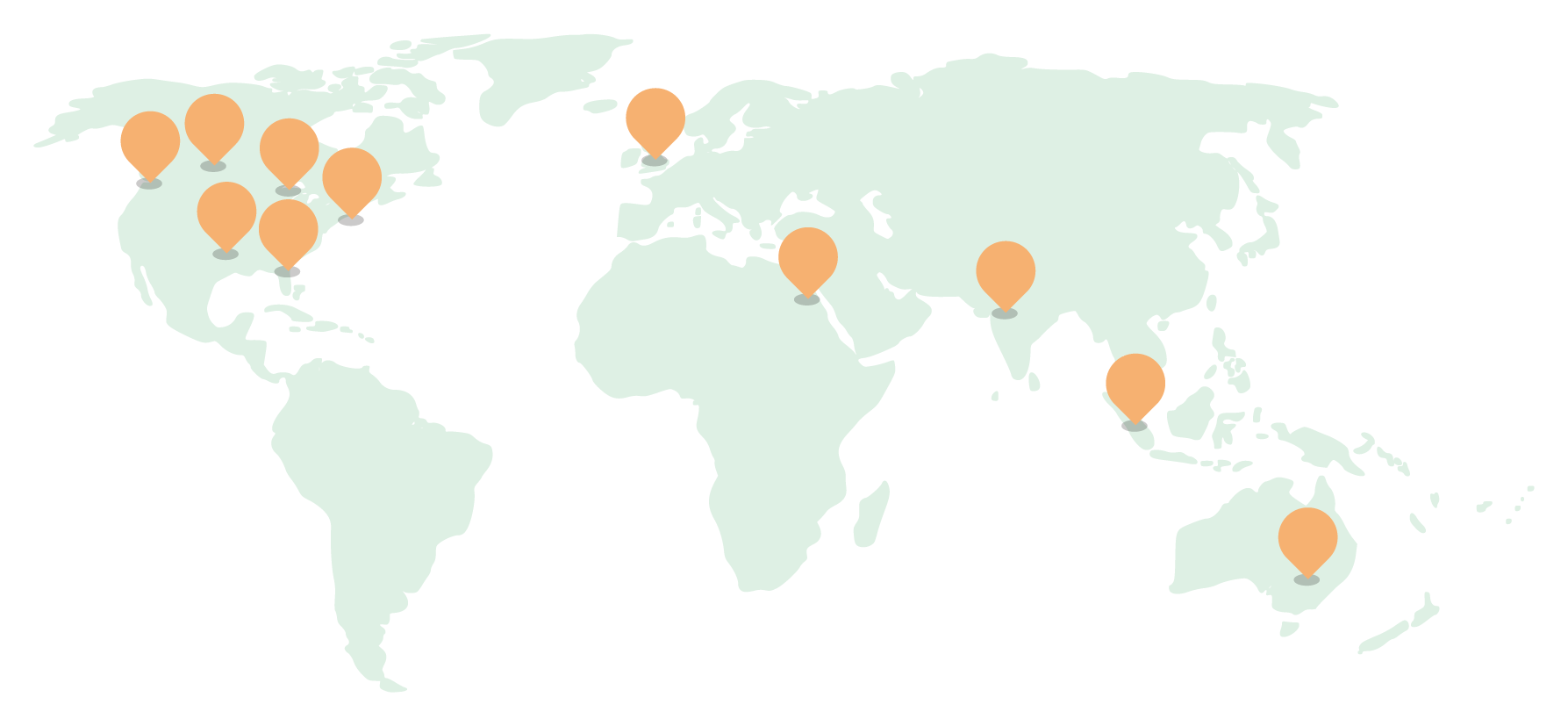 Map of LaunchGood remote locations