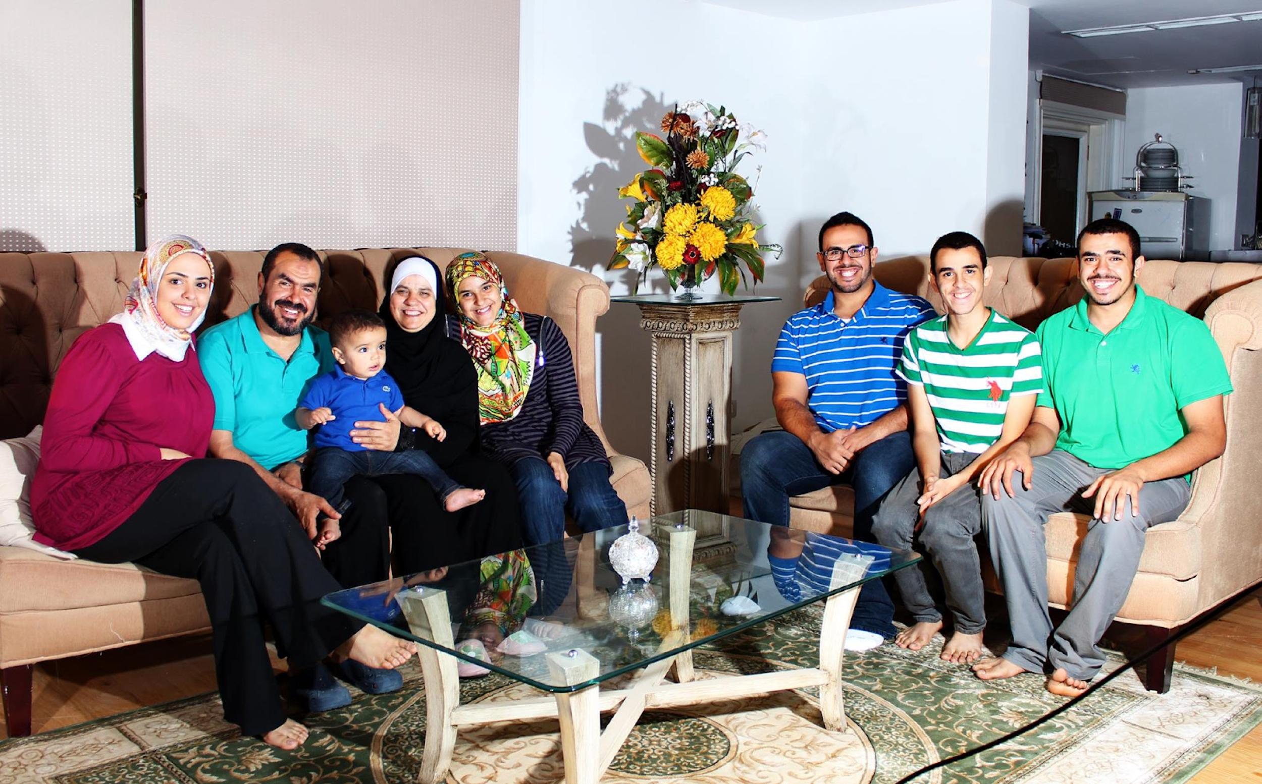 Photo of Omar Soltan with a group of people
