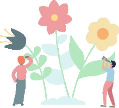 Illustration of big flowers