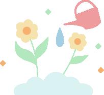 Illustration of watering plants