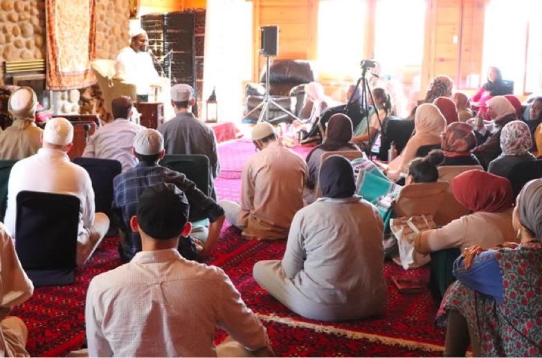 Photo of interior of mosque